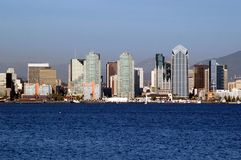 San Diego Waterfront Skyline. San Diego, California, Waterfront Skyline Stock Photo