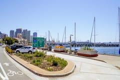 San Diego Waterfront y - SAN DIEGO - CALIFORNIA céntricos - 21 de abril de 2017 Foto de archivo