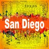 San Diego word cloud design Royalty Free Stock Photos