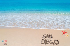 San diego writing Royalty Free Stock Image