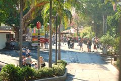 The San Diego Zoo walkway Royalty Free Stock Photography
