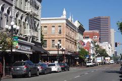 The San Diego's Gaslamp Quarter Stock Image