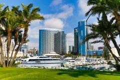 San Digo Waterfront. San Diego waterfront and marina royalty free stock image