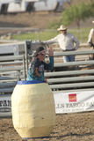 San Dimas Rodeo Clown in Barrel Royalty Free Stock Images