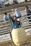 San Dimas Rodeo Clown in Barrel Royalty Free Stock Photo