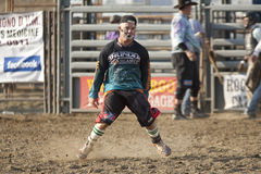 San Dimas Rodeo Clown Dancing Royalty Free Stock Photography