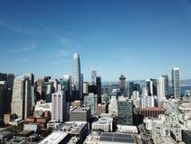 San do centro Francisco Iconic View fotos de stock royalty free