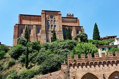 San Domenico Basilica, Sienne, Toscane, Italie Photos libres de droits