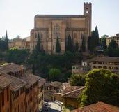 San Domenico Cathedral in Siena royalty free stock photo