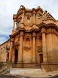 San Domenico church and Fontana d'Ercole, Noto, Sicily, Italy royalty free stock photos