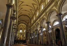 San Domenico Church Main Nave Palermo Royalty Free Stock Image