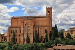 San Domenico church in Siena, Italy Stock Photo
