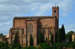 San Domenico kyrka, Siena, Tuscany, Italien Arkivbilder
