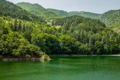 San Domenico Lake Abruzzo Italy Royaltyfri Fotografi