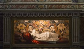 San Domenico Maggiore church, Naples Italy Stock Images