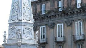 San Domenico Maggiore kwadrat, Naples, Włochy Obrazy Royalty Free