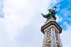 San Domenico Maggiore square San domenico obelisk Royalty Free Stock Images