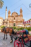 San Domenico square and church in Palermo, Italy Royalty Free Stock Photography