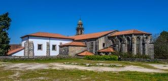 San Domingos Church i Santiago de Compostela, Spanien Arkivfoton