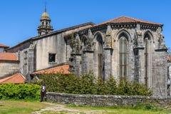 San Domingos Church i Santiago de Compostela, Spanien Royaltyfria Bilder
