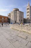San donato church and bell tower of the cathedral zadar dalmatia croatia europe Stock Photos