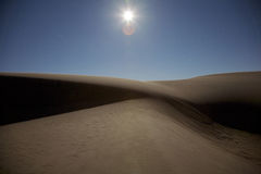 San Dunes at Night Stock Photography