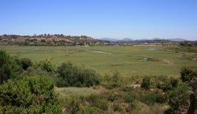 San Elijo Lagoon. Panoramic view of a coastal lagoon in California Stock Photo
