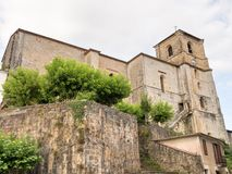 San esteban church. In Bera. Originally a Gothic tower house, which from the sixteenth century will be used as a church.  Navarra.  Spain Royalty Free Stock Photo