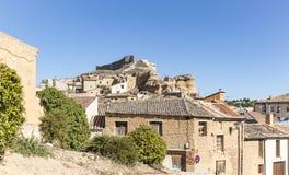 San Esteban de Gormaz stad, landskap av Soria, Spanien Royaltyfri Bild