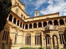 San Esteban's Convent in Salamanca, Spain. In Plaza del Concilio de Trento, at the end of Gran Via, stands the temple popularly called the Dominicans. Between Royalty Free Stock Image