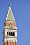 san för klockamarcopiazza torn venice Fotografering för Bildbyråer