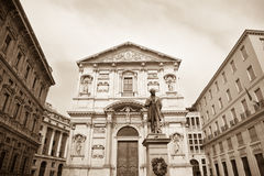 San Fedele church, Milan Royalty Free Stock Photo