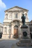 San Fedele Church a Milano, Italia Fotografia Stock Libera da Diritti