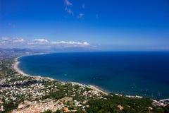 SAN Felice Circeo Coast Στοκ Εικόνα