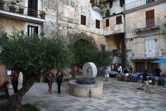 San Felice Circeo Local liv Arkivbild