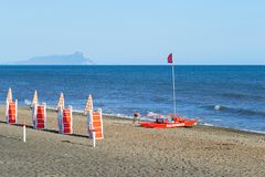 San Felice Circeo view from the sea Royalty Free Stock Images