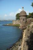 San Felip del Morro Fort dans la vieille ville, San Juan Photos stock