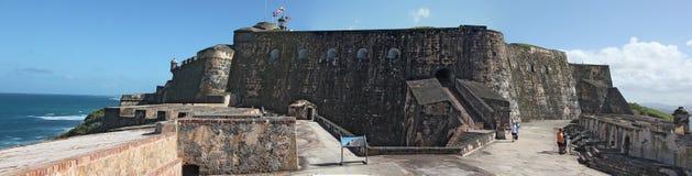 San Felip del Morro Fort i den gamla staden, San Juan royaltyfria foton
