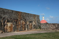 San Felip del Morro Fort in Old town, San Juan Royalty Free Stock Photography