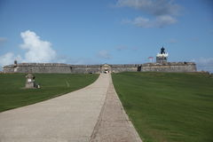 San Felip Del Morro Fort w Starym miasteczku, San Juan Zdjęcia Royalty Free