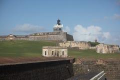 San Felip del Morro Forte na cidade velha, San Juan Foto de Stock
