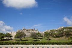 San Felipe Castle in Cartagena de Indias. Castillo de San Felipe Royalty Free Stock Photos