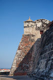 San Felipe Castle in Cartagena de Indias. Castillo de San Felipe Stock Photography
