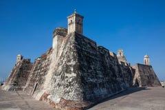 San Felipe Castle in Cartagena de Indias. Castillo de San Felipe Royalty Free Stock Photo