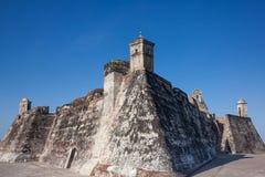 San Felipe Castle in Cartagena de Indias. Castillo de San Felipe Stock Photo