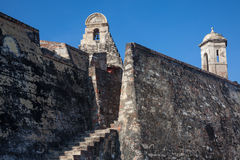 San Felipe Castle in Cartagena de Indias. Castillo de San Felipe Royalty Free Stock Images