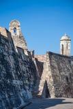 San Felipe Castle en Cartagena de Indias Fotografía de archivo