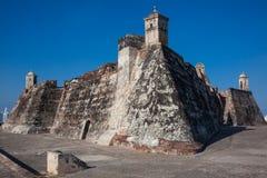 San Felipe Castle en Cartagena de Indias Imagenes de archivo