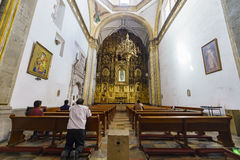 San Felipe de Jesus Satelite. Mexico City, FEB 19: The inner view of the historical and beautiful San Felipe de Jesus Satelite on FEB 19, 2017 at Mexico City Stock Image