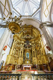 San Felipe de Jesus Satelite. Mexico City, FEB 19: The inner view of the historical and beautiful San Felipe de Jesus Satelite on FEB 19, 2017 at Mexico City Stock Photos